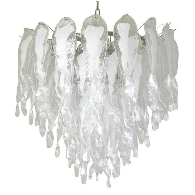 White Stalattiti Chandelier For Sale - Image 8 of 8