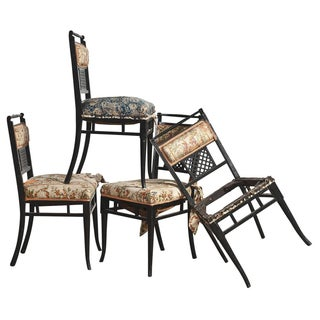 Antique Regency Chinoiserie Chairs - Set of 4 For Sale