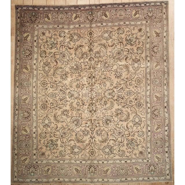 Antique Persian Handmade Area Rug - 9′5″ × 10′9″ - Image 2 of 11