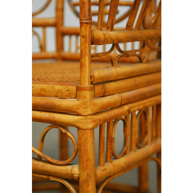 Brown Brighton Pavilion Style Chinoiserie Chairs - Pair For Sale - Image 8 of 9