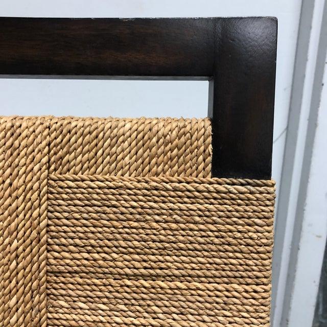 Palecek Raffia Rope & Wood Side Chair - Image 4 of 7