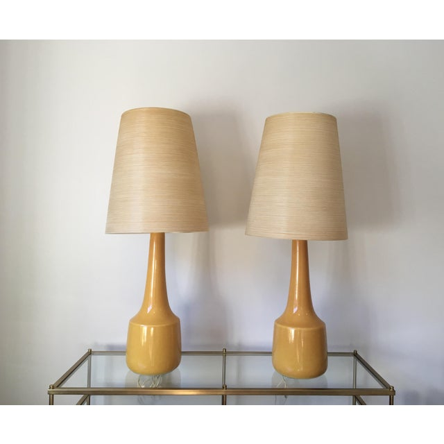 Lotte gunnar bostlund yellow glazed pottery table lamps a pair lotte gunnar bostlund yellow glazed pottery table lamps a pair image 3 of mozeypictures Choice Image
