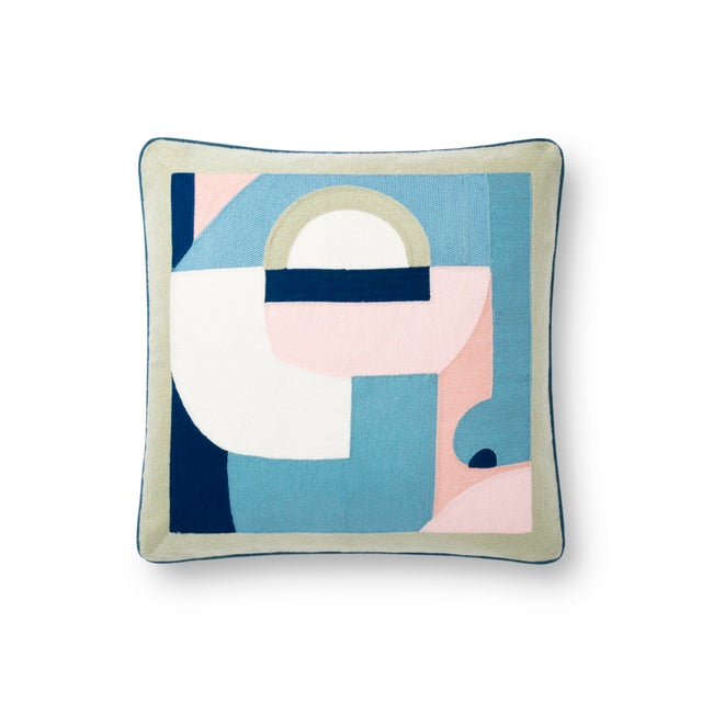 """Contemporary Justina Blakeney X Loloi Multi 18"""" X 18"""" Cover with Down Pillow For Sale - Image 3 of 3"""