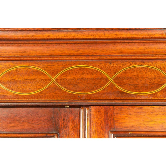 Charak Hand-Carved Mahogany Wood Two Piece Display Cabinet For Sale In New York - Image 6 of 13