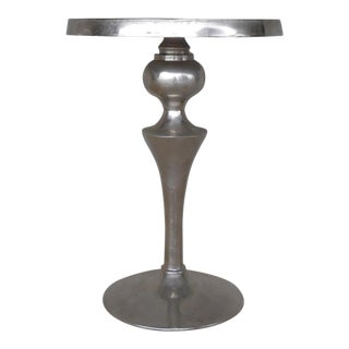 Uttermost Noland Distressed Aluminum Accent Table For Sale