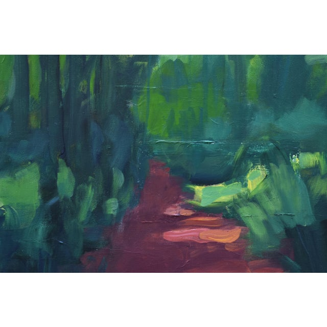 "Stephen Remick Stephen Remick ""A Walk in the Woods"" Contemporary Painting For Sale - Image 4 of 12"