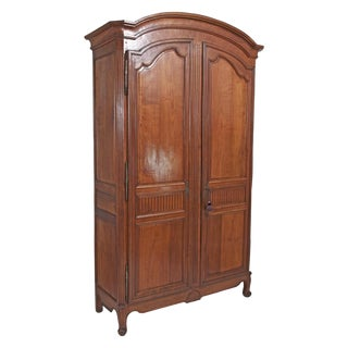 18th Century french Louis XVI Walnut Chateau Armoire For Sale