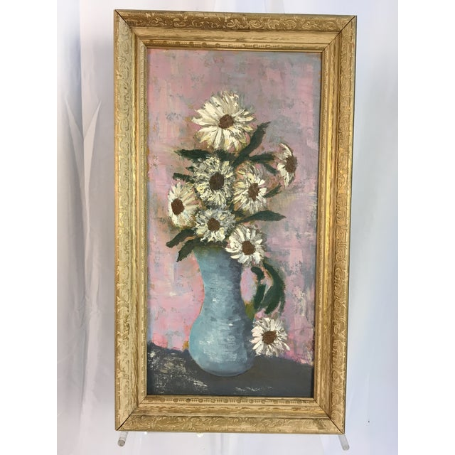 What beautiful colors in this whimsical interpretation of a classic painting of flowers! This nice pop of color looks...