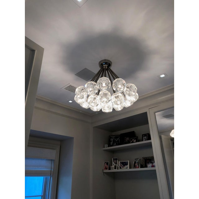 "Restoration Hardware Boule De Cristal Flushmount 24"" Polished Nickel For Sale In Los Angeles - Image 6 of 10"