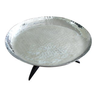 Mary Jurek Orion Round Tray with Buffalo Horn For Sale