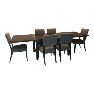 Room and Board Pierson Extension Table and 6 Dorset Dining Chairs For Sale