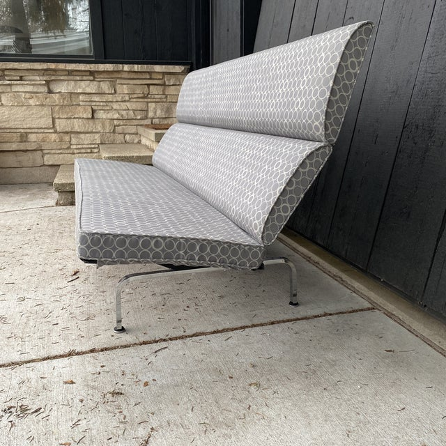 Herman Miller Eames Compact Sofa For Sale - Image 4 of 11