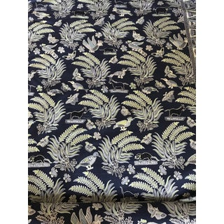 China Seas Quadrille Malay Batik Fabric in Indigo - 9 Yards