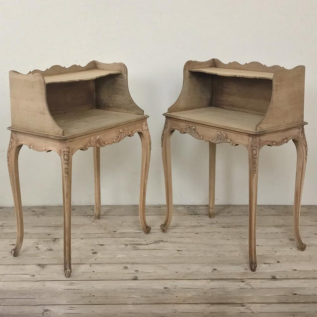 Early 20th Century Pair Country French Provincial Nightstands For Sale - Image 5 of 13