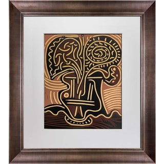 """1960s Vintage Pablo Picasso Linocut Limited Edition """"Le Vase De Fleurs"""" Print For Sale"""