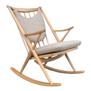 Mid-Century Modern Frank Reenskaug for Brahmin Mobler Danish Rocking Chair For Sale
