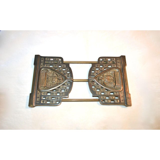 Gold Judd Art Nouveau Wise Owl Book Rack 1920s For Sale - Image 8 of 11