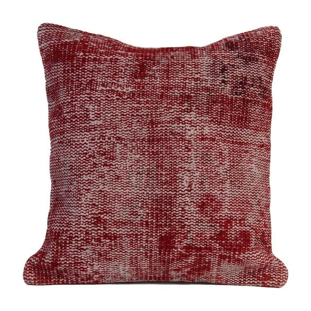 Vintage Red Overdyed Pillow Cover - Image 1 of 7