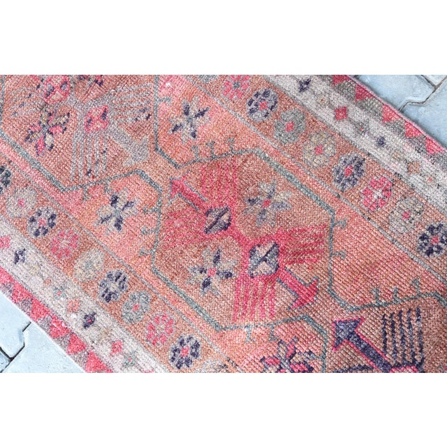 1960s 1960's Vintage Turkish Hand-Knotted Long Runner-2′9″ × 15′1″ For Sale - Image 5 of 11