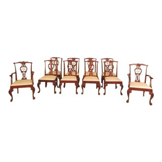 Set of 10 Baker Ball & Claw Mahogany Dining Room Chairs For Sale