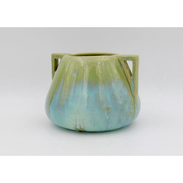 Early 20th Century Vintage Fulper Pottery Arts & Crafts Double Handled Vase With Flambé Glaze For Sale - Image 5 of 11