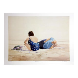 """""""Beached"""" Jean L. Barton Signed Lithograph"""