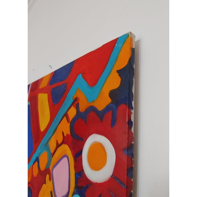 1990s Richard Youniss Original Inuit Inspired Oil Painting For Sale In Baltimore - Image 6 of 7