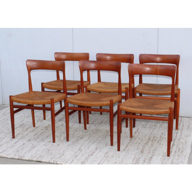 1950s 1950's Danish Teak Sculptural Dining Chairs - Set of 6 For Sale - Image 5 of 13