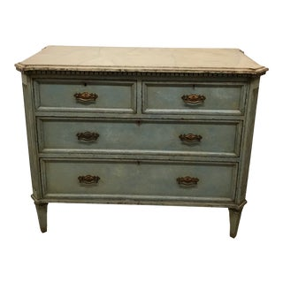 19th Century Swedish Painted Chest For Sale