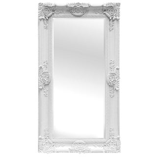 Mayfair Vintage Matte White Full Length Mirror For Sale