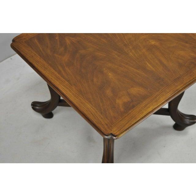 Wood 20th Century Hollywood Regency John Widdicomb Walnut Low Side Table For Sale - Image 7 of 11