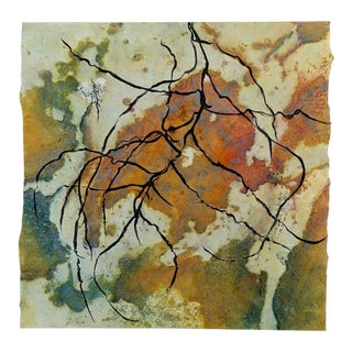 "Niederhausen Mixed Media on Paper ""Topographic"", Contemporary Abstract For Sale"