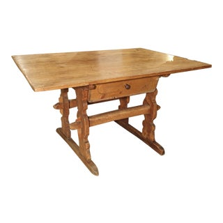 Antique Chalet Table from the Mountain Regions of France, Circa 1890 For Sale