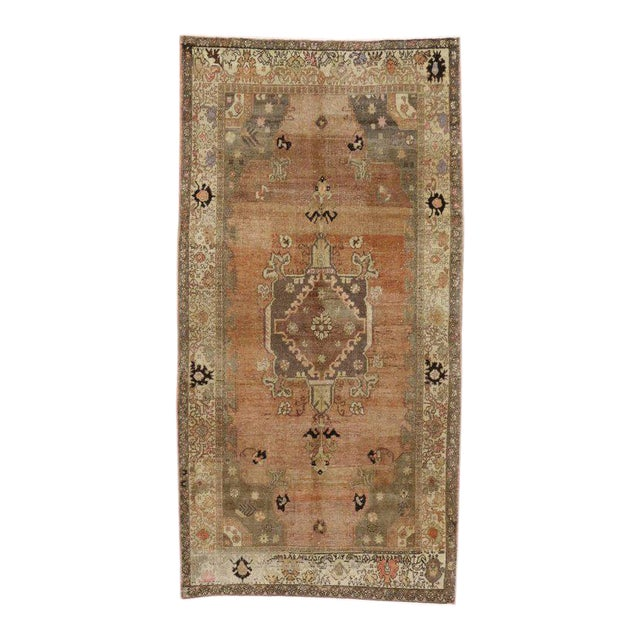 Vintage Turkish Sivas Rug with Modern Industrial Style For Sale