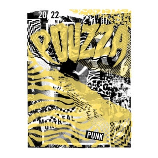 2016 Contemporary Music Poster, Pouzza Punk Festival (Yellow) For Sale