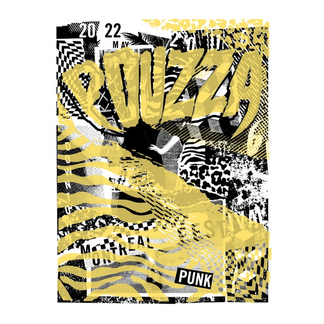 2016 Contemporary Music Poster - Pouzza Punk Festival (Yellow) For Sale