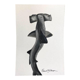 Modern Swaying Hammerhead Painting Print For Sale