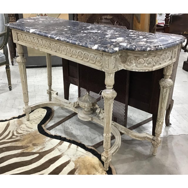 French 19th Century Louis XVI Style Console Table For Sale - Image 3 of 12