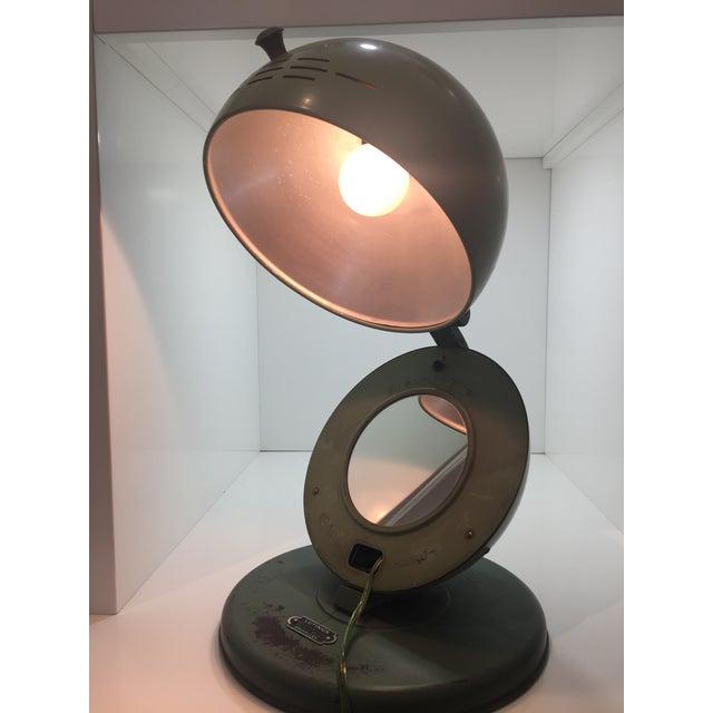 Art Deco Bauhaus Style Hanau Quartz Table Lamp/Vanity Mirror For Sale - Image 3 of 8