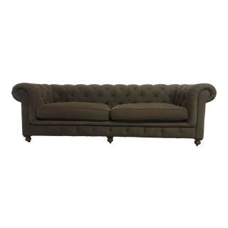Belgian Restoration Hardware Kensington Sofa For Sale