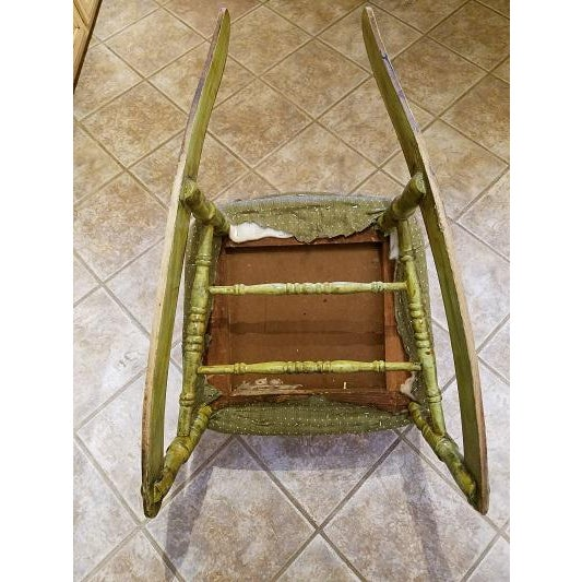 Antique Rocking Chair With Blade Rockers - Image 4 of 5