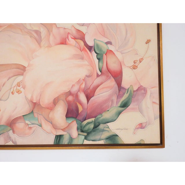 "Large Scale Floral Painting Titled ""Audible Blooms"" by Daryl D. Johnson For Sale In Boston - Image 6 of 13"