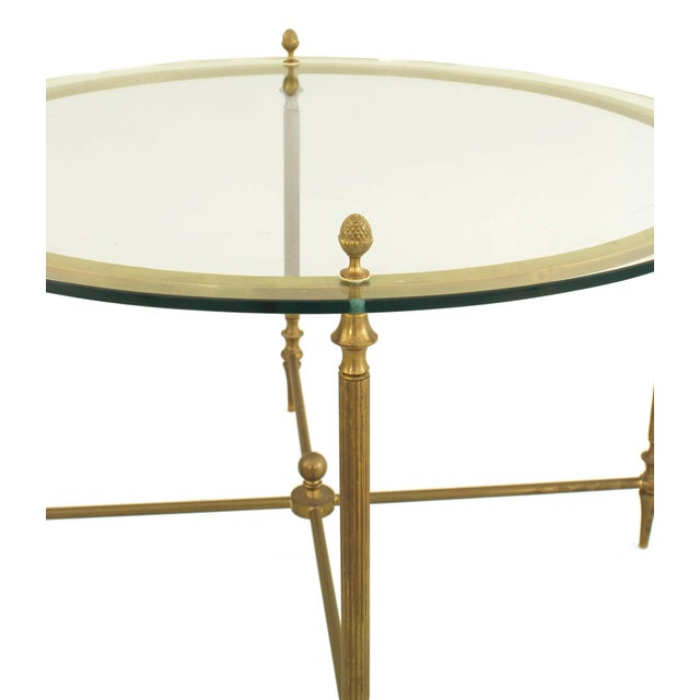 Mid 20th Century Mid-Century American Brass Coffee Table With Four Nested Wedge Tables For Sale - Image 5 of 7
