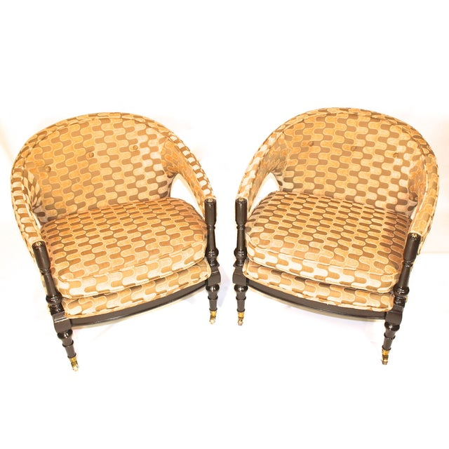Vintage Mid-Century Barrel Club Chairs - A Pair - Image 4 of 7