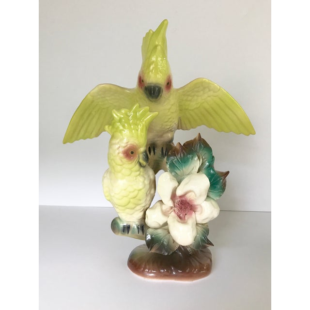 Vintage Citron Cockatoo Statue - Image 5 of 10