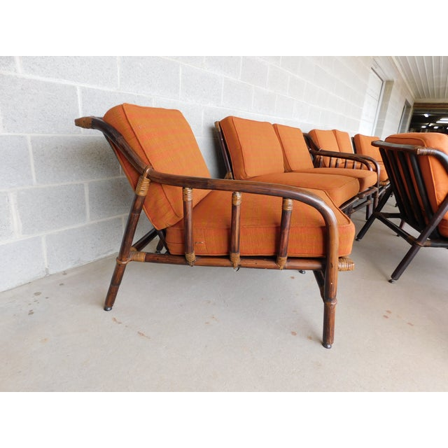 Ficks Reed Vintage Mid Century Rattan 11pc Patio Set For Sale In Philadelphia - Image 6 of 13