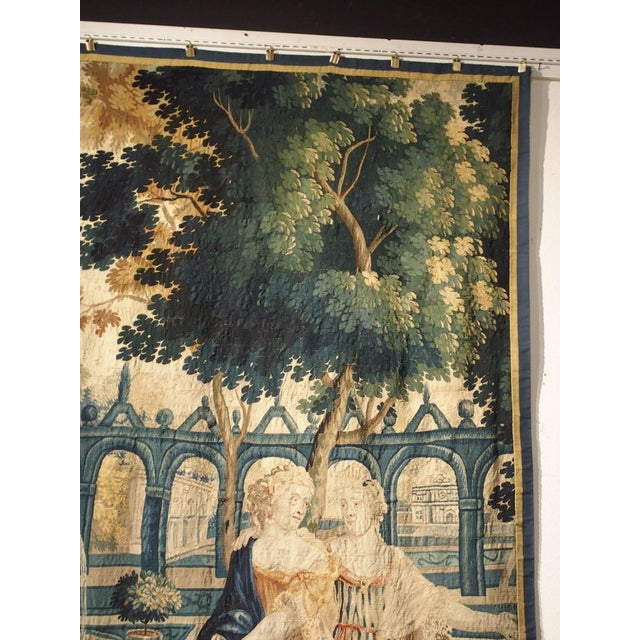 17th Century Park Scene Tapestry From France For Sale - Image 4 of 13
