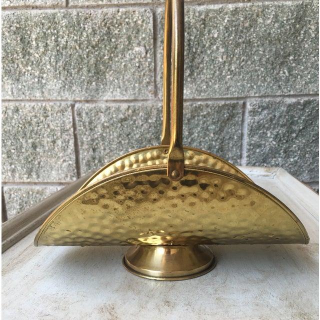 Hammered Brass Flower Basket - Image 4 of 8