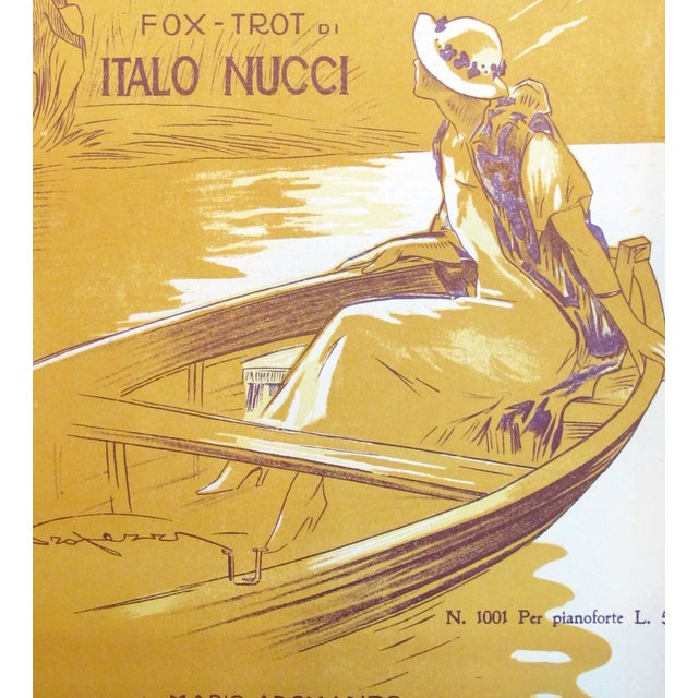 This piece of sheet music was purchased recently in Italy from a dealer of vintage Italian ephemera. We love this piece...