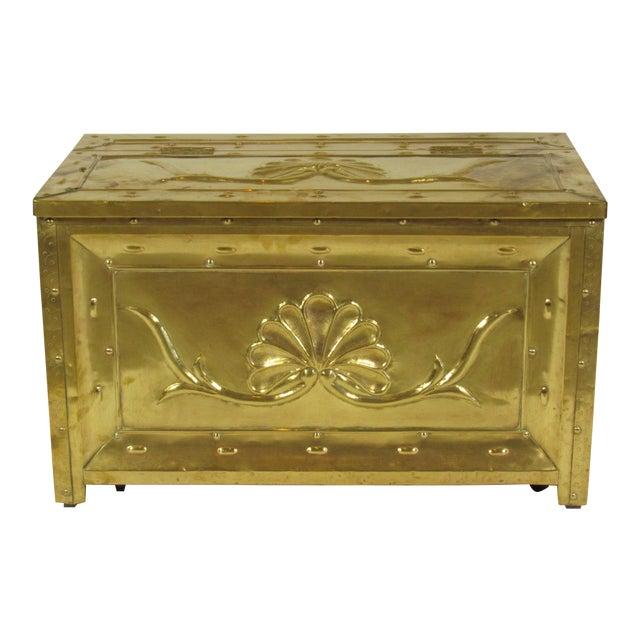 19th Century Swedish Brass Wood Box For Sale